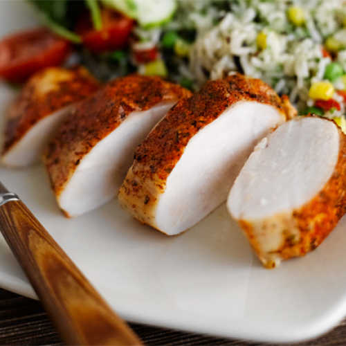 Kanaa ja pilahviriisiä