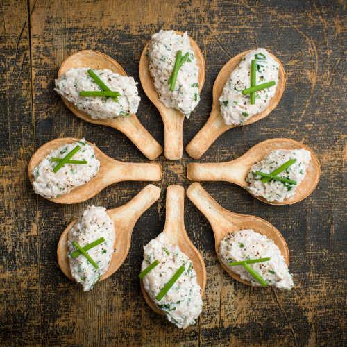 Kana-vuohenjuusto crostinit