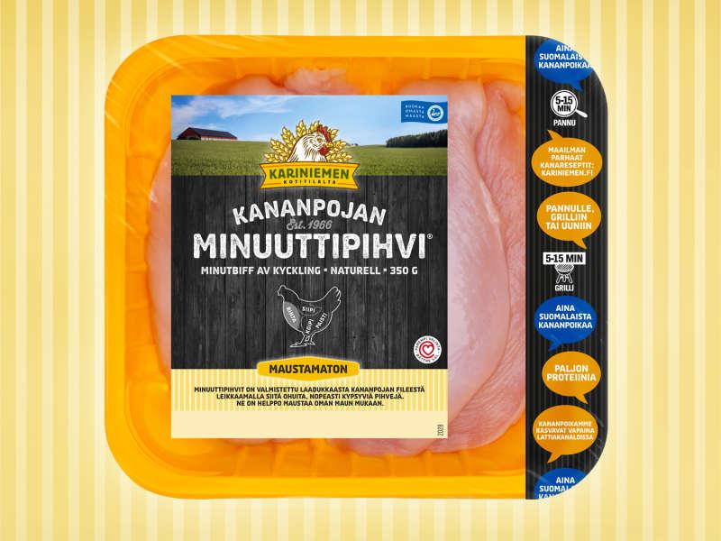 Kariniemen Kananpojan Minuuttipihvi<sup>®</sup> maustamaton
