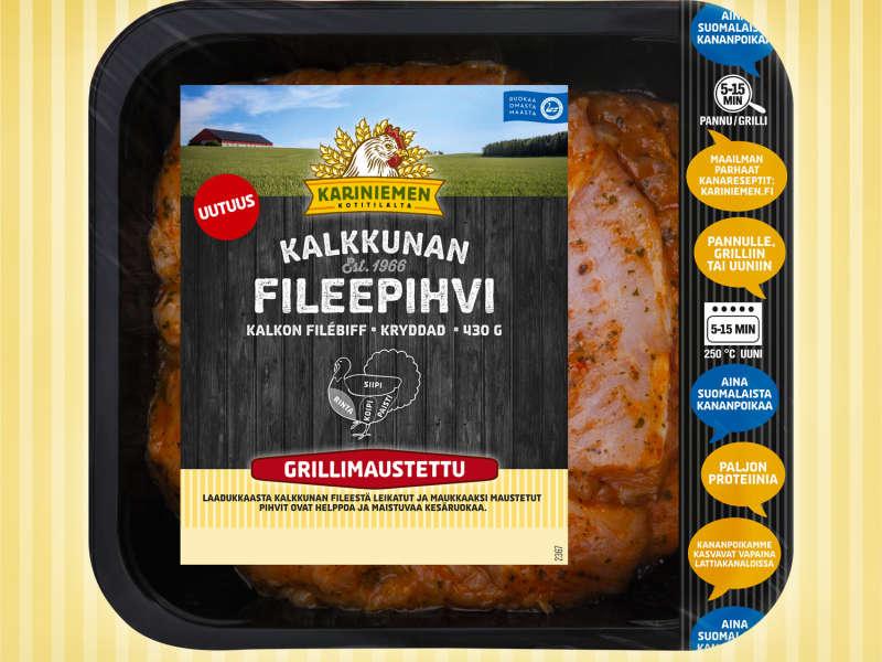Kariniemen Kalkkunan Fileepihvi grillimaustettu
