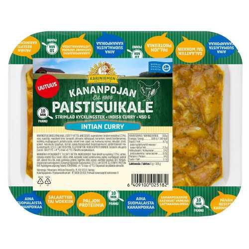 Kariniemen Kananpojan Paistisuikale Intian curry