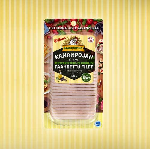 Kariniemen Kananpojan Mustapippuri-oliiviöljy paahdettu filee