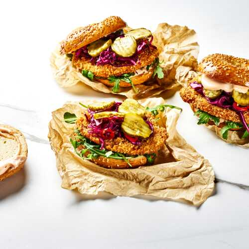 Chicken Bagel Burger