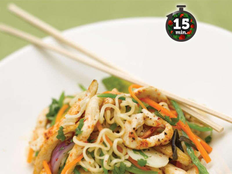 Kiinan kanaa wokissa