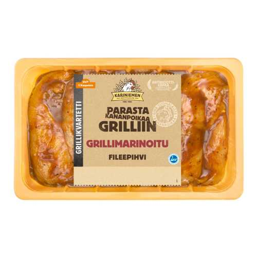 Kariniemen Kananpojan fileepihvi grillimarinoitu 700g