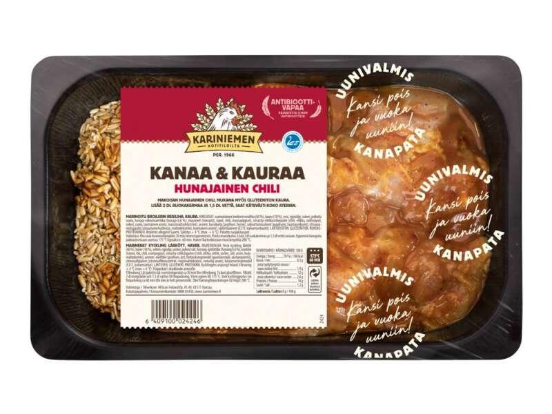 Kariniemen Kananpojan Uunivalmis pata, Kanaa ja kauraa hunajainen chili