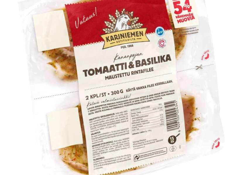 Kariniemen Kananpojan rintafilee tomaatti-basilika