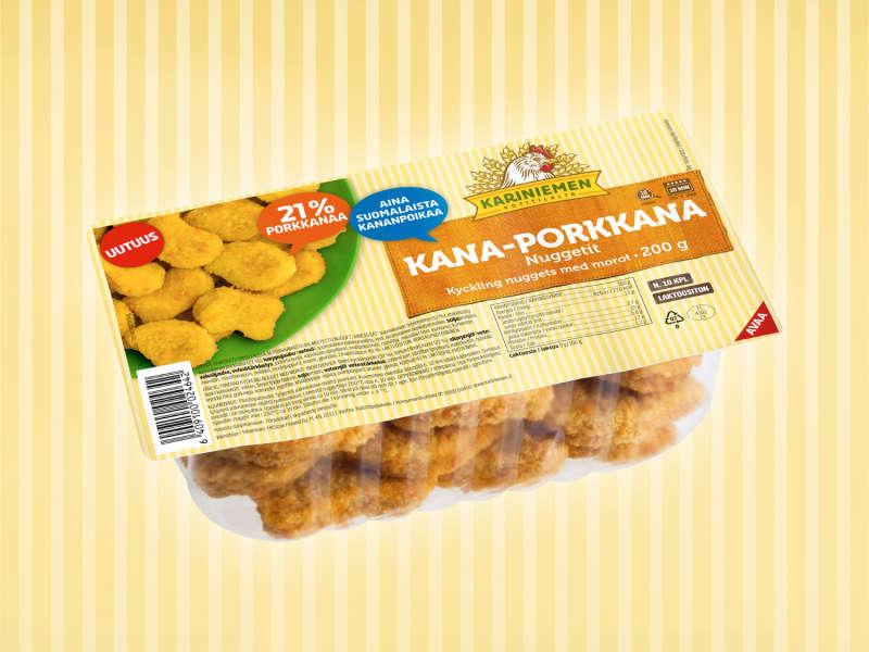 Kariniemen Kana-porkkana nuggetit