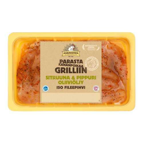 Kariniemen Kananpojan Iso fileepihvi Sitruuna & Pippuri oliiviöljy 500g