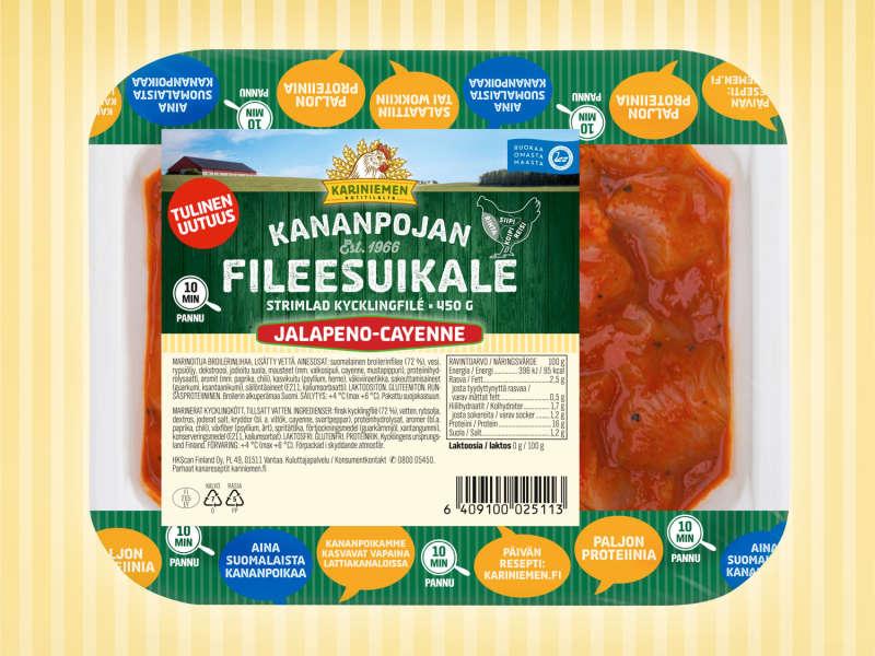 Kariniemen Kananpojan Fileesuikale jalapeno-cayenne