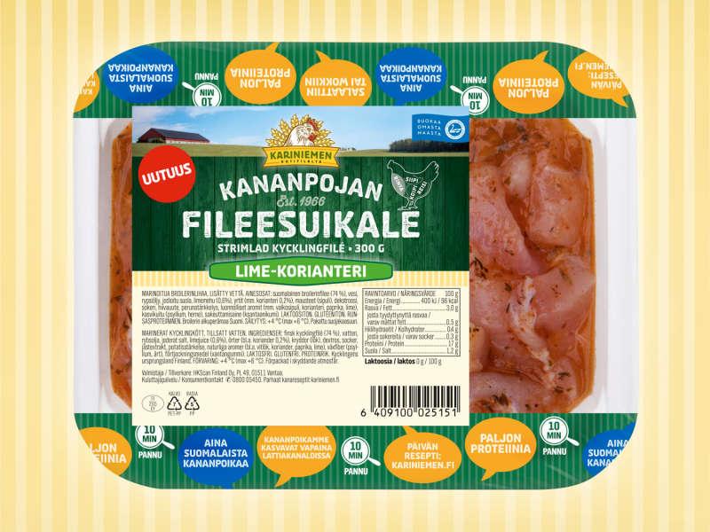 Kariniemen Kananpojan Fileesuikale lime-korianteri