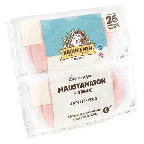 Kariniemen Kananpojan rintafilee maustamaton 4x150g