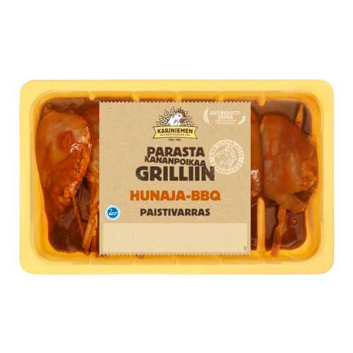 Kariniemen Kananpojan Paistivarras hunaja-BBQ n.500g