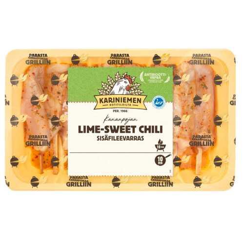 Kariniemen Kananpojan sisäfileevarras Lime-sweet chili 450g