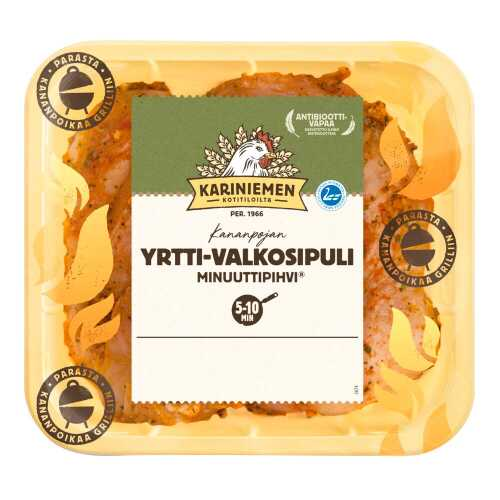 Kariniemen Kananpojan Minuuttipihvi<sup>®</sup> yrtti-valkosipuli
