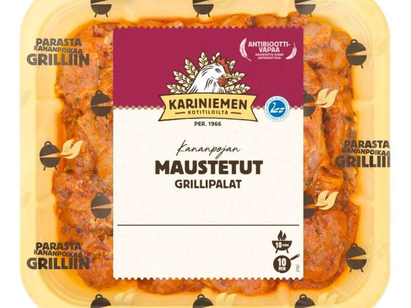 Kariniemen Kananpojan maustetut Grillipalat paistista