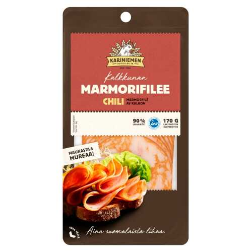 Kariniemen Kalkkunan Marmorifilee chili 170g
