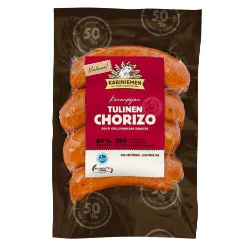 Kariniemen Kananpojan Tulinen Chorizo grillimakkara 260g