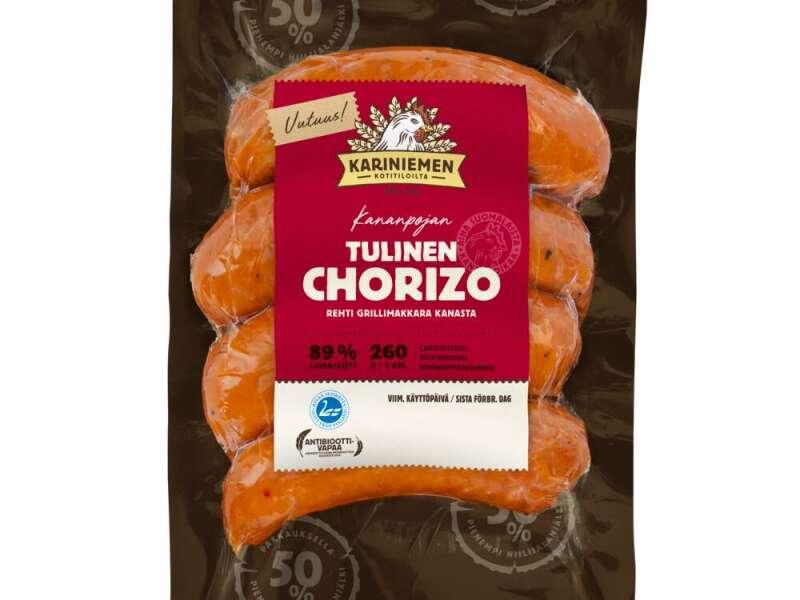 Kariniemen Kananpojan Tulinen Chorizo grillimakkara