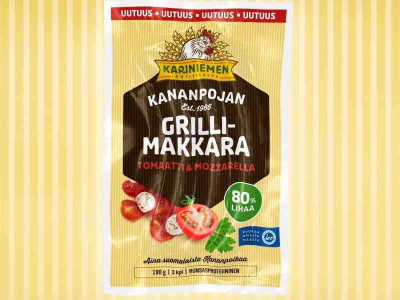Kariniemen Kananpojan Grillimakkara tomaatti & mozzarella