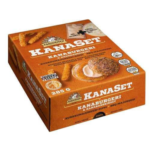 Kariniemen KanaSet<sup>®</sup>  Kanaburgeri & kanaranskikset  285g