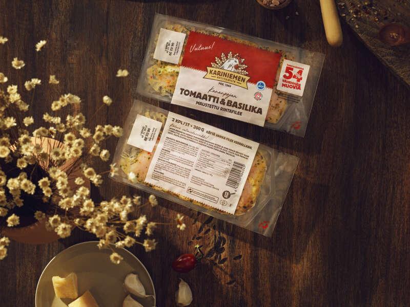 Kariniemen tomaatti & basikila rintafilee