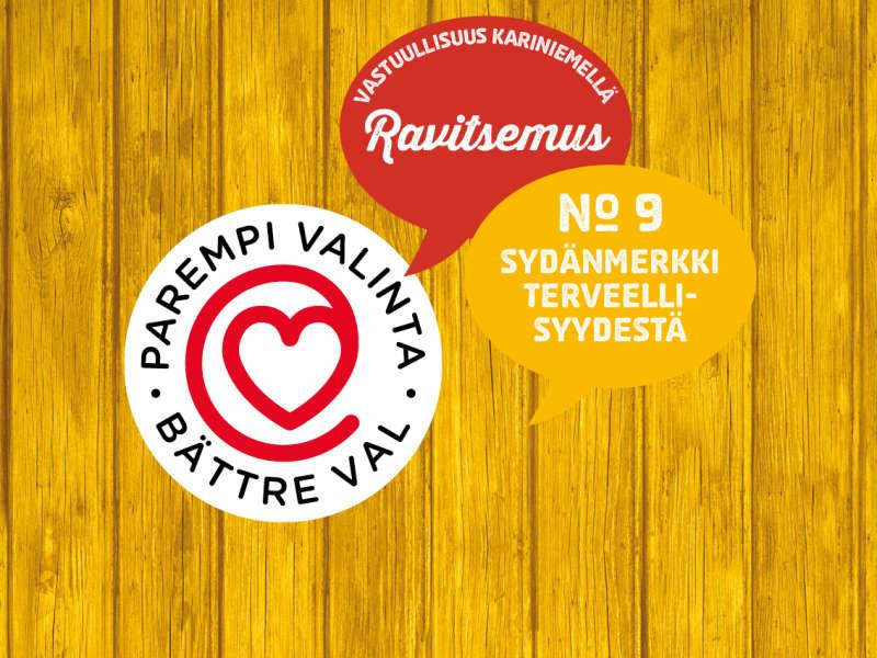9) Sydänmerkki terveellisyydestä